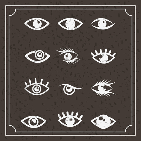 stoned: set eyes design, vector illustration eps10 graphic