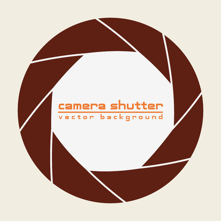 focal: camera shutter background , vector illustration eps10 graphic