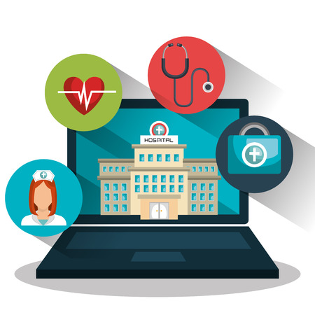 geneeskunde online ontwerp, vector illustratie eps10 grafische
