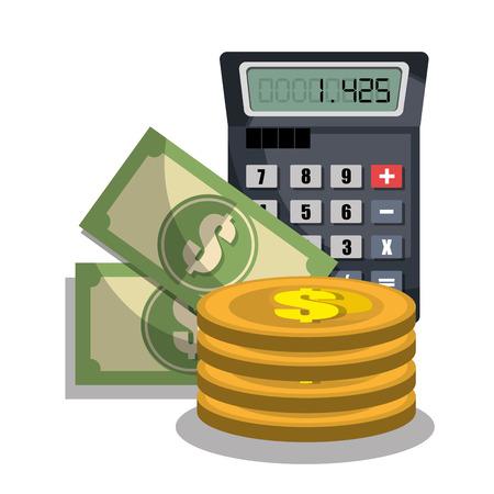 valor: el cálculo de los costes de diseño, ejemplo gráfico del vector eps10 Vectores