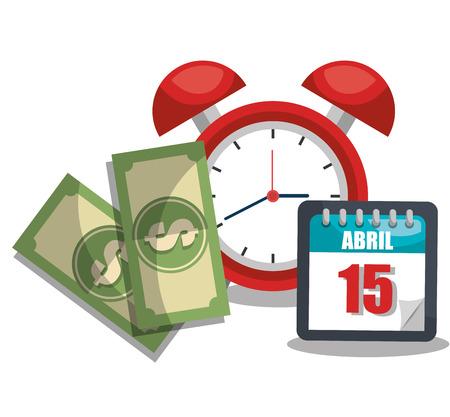 impuestos: impuestos tiempo de diseño, ejemplo gráfico del vector eps10