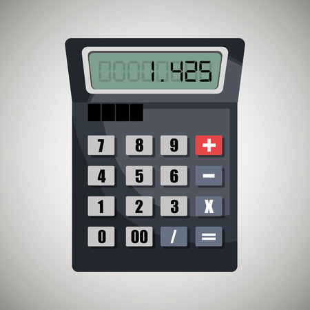 calculating: calculating costs design, vector illustration eps10 graphic Illustration