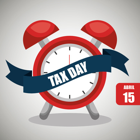 fiscal: tax time  design, vector illustration eps10 graphic