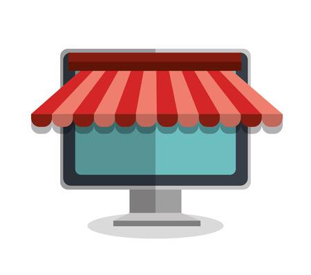 market place: shopping online design, vector illustration eps10 graphic