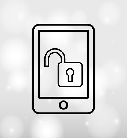 lock  futuristic: security system  design, vector illustration eps10 graphic