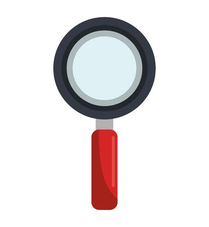 scrutiny: magnifying glass design, vector illustration eps10 graphic Illustration