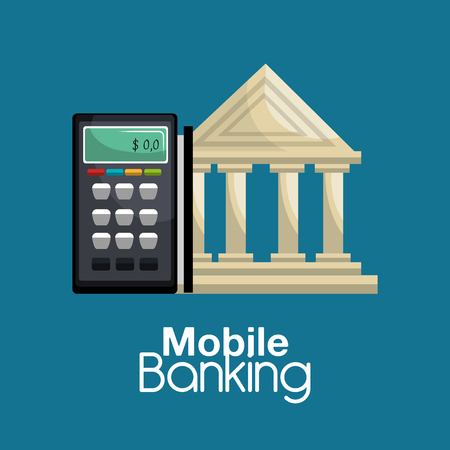 mobile banking: mobile banking design, vector illustration eps10 graphic