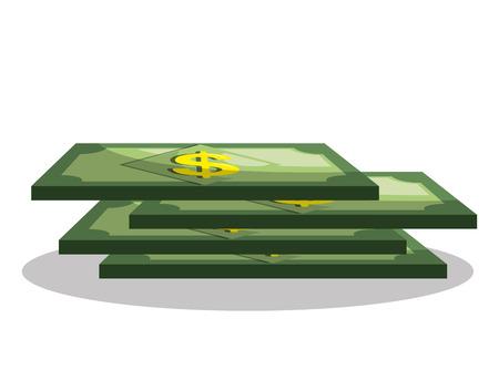 ganancias: diseño de concepto de dinero, ilustración vectorial gráfico eps10
