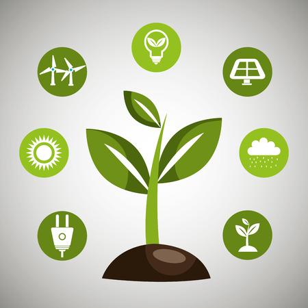 energy icon: renewable energy  design, vector illustration eps10 graphic