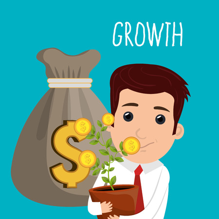 economic growth: economic growth design, vector illustration eps10 graphic