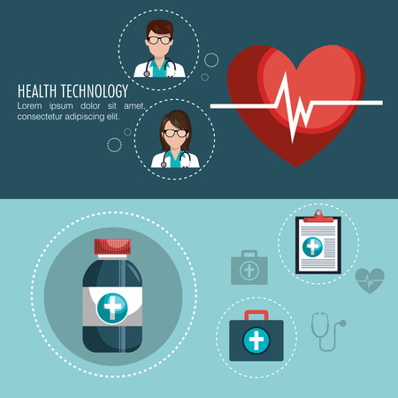 healthcare workers: medical care design, vector illustration eps10 graphic