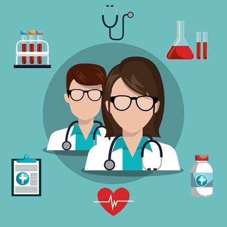 Medische zorg ontwerp, vector illustratie eps10 grafisch Vector Illustratie