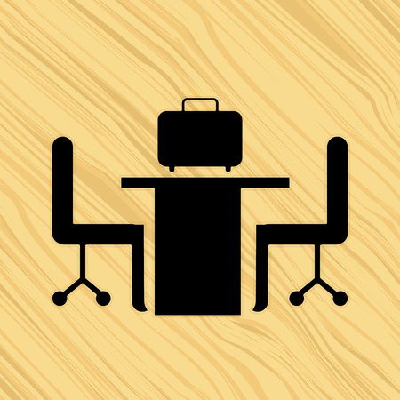 place of work: work place design, vector illustration eps10 graphic