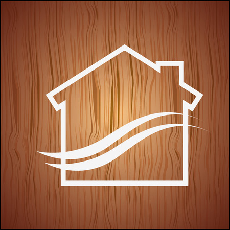 eco house icon design, vector illustration eps10 graphic