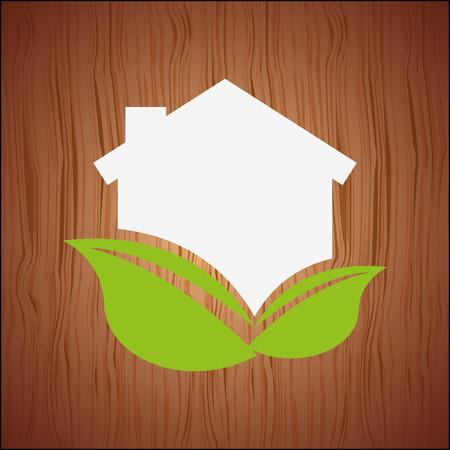 enviroment: eco house icon design, vector illustration eps10 graphic