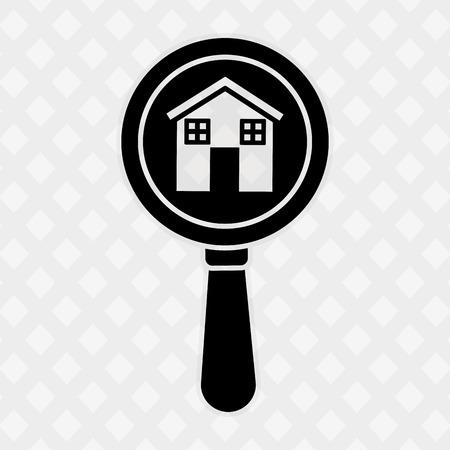 searh: real estate design, vector illustration eps10 graphic Illustration