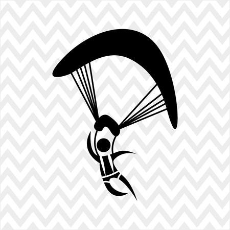paragliding: extreme sport design, vector illustration eps10 graphic