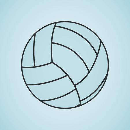 balon de voley: deportivo del concepto de diseño de iconos, ejemplo gráfico del vector eps10