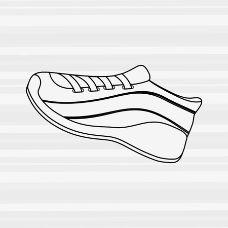 tennis shoes: tennis shoes icon design, vector illustration eps10 graphic Illustration