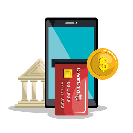 retail place: mobile banking design, vector illustration eps10 graphic