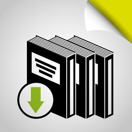 page down: e-book download design, vector illustration eps10 graphic