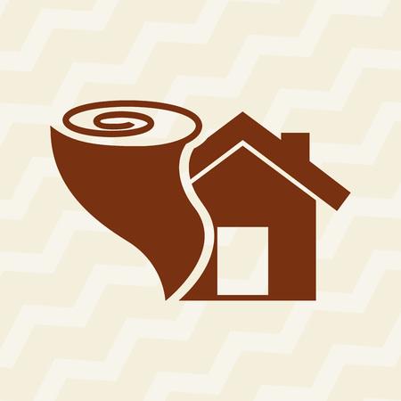 storm damage: insurance icon design, vector illustration eps10 graphic