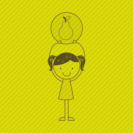 symbol of health: healthy food design, vector illustration eps10 graphic