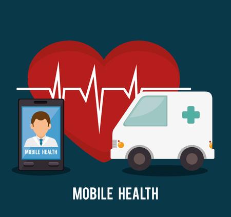 online medisch ontwerp, vector grafische illustratie eps10