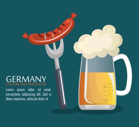 Deutsch Kultur Design, Vektor-Illustration eps10 Grafik
