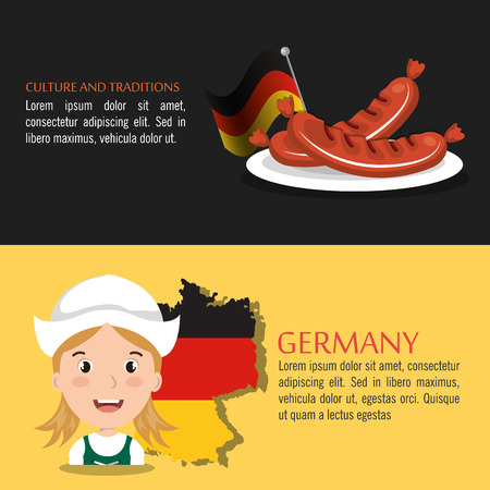 german culture: German culture design, vector illustration eps10 graphic