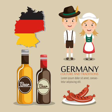german culture: German culture design, vector illustration eps10 graphic