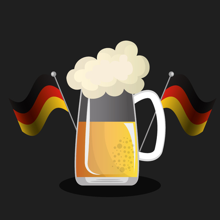 bavarian culture: German culture design, vector illustration eps10 graphic