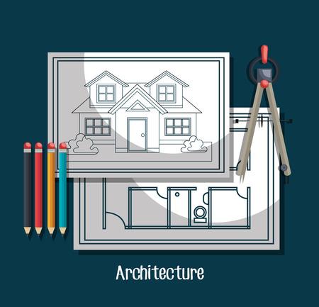 architecture: architecture project design, vector illustration eps10 graphic
