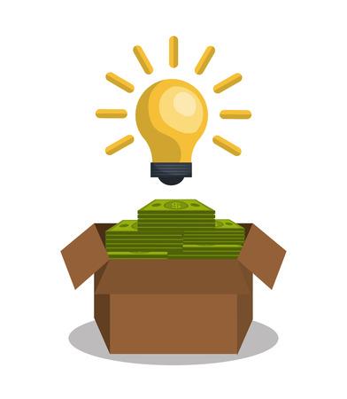 contribute: funding concept design, vector illustration eps10 graphic Illustration