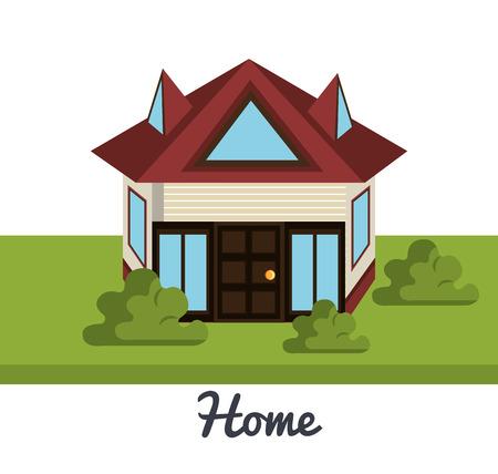 belle conception de maison, illustration graphique eps10 Vecteurs