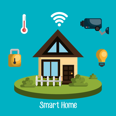 home automation: smart home design, vector illustration eps10 graphic