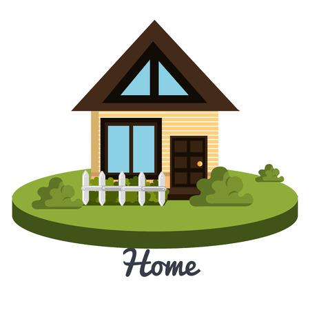 suburban home: beautiful home design, vector illustration eps10 graphic