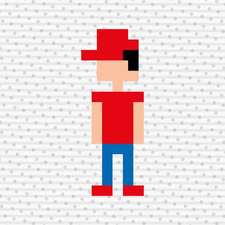 figure of eight: pixel avatar design, vector illustration eps10 graphic