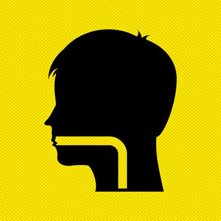 pharynx: human profile design, vector illustration eps10 graphic Illustration