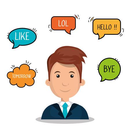 gente comunicandose: las personas que se comunican dise�o, ejemplo gr�fico del vector eps10 Vectores