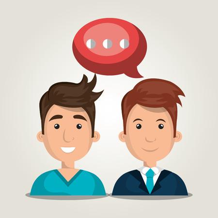 personas comunicandose: las personas que se comunican dise�o, ejemplo gr�fico del vector eps10 Vectores