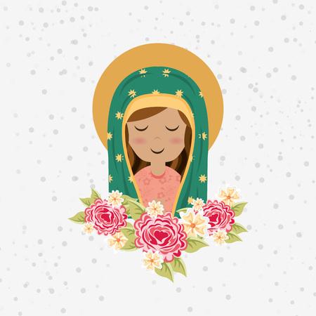 Diseño Virgen bendecida, ejemplo gráfico del vector eps10 Foto de archivo - 54455212