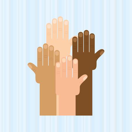 hand human design, vector illustration eps10 graphic