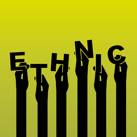 voting rights: hand human design, vector illustration eps10 graphic