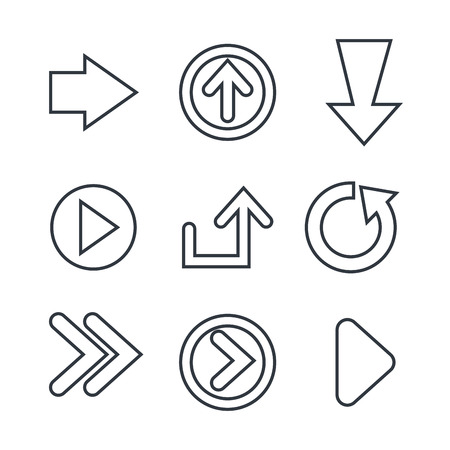 guide: guide arrows design, vector illustration eps10 graphic Illustration