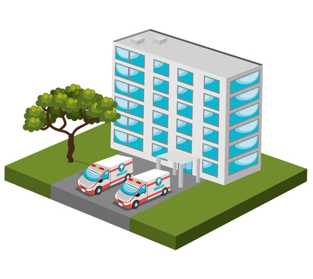 commercial real estate: isometric place design, vector illustration eps10 graphic