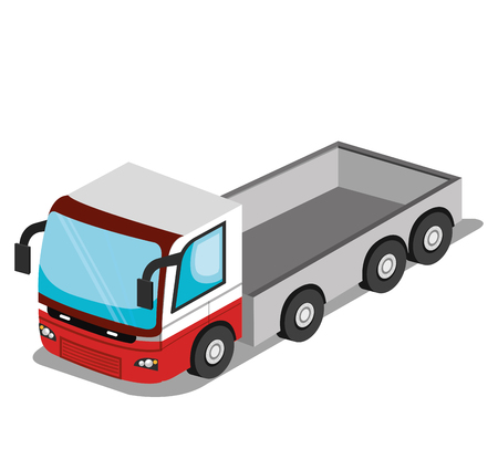 delivery driver: isometric vehicle design, vector illustration eps10 graphic