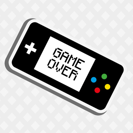 electronic 80s: video game icon design, vector illustration eps10 graphic Illustration
