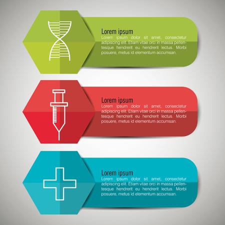 medical infographics design, vector illustration eps10 graphic Ilustração Vetorial