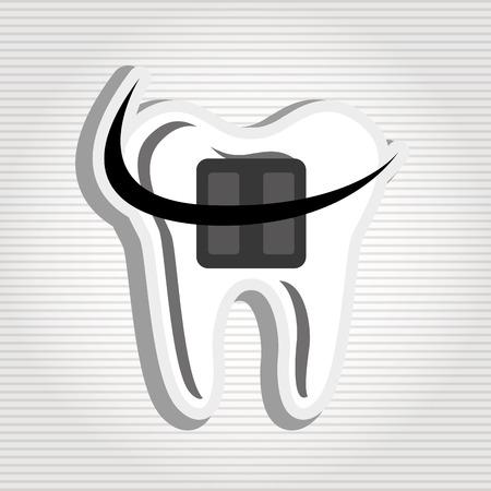 Zahnpflege-Ikonendesign, Grafik der Vektorillustration eps10